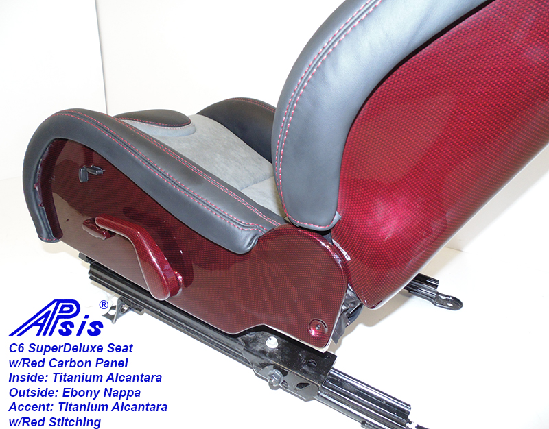 C6 SuperDeluxe Seat=ebony+titanium alcantara w-red carbon panel-lower panel only-2