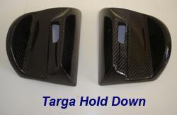 C6 Targa Hold Down-Black CF-1 pair 250
