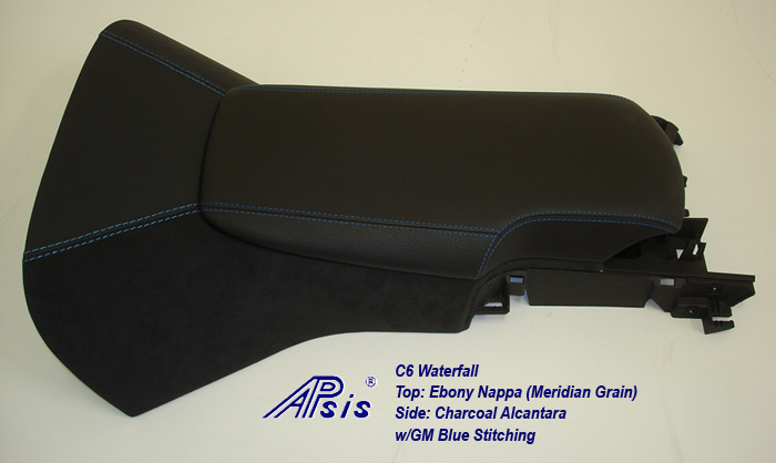 C6 Waterfall+Armrest-ebony w-gm blue stitching-2