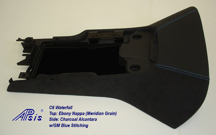 C6 Waterfall-ebony+charcoal alcantara w-gm blue stitching-3