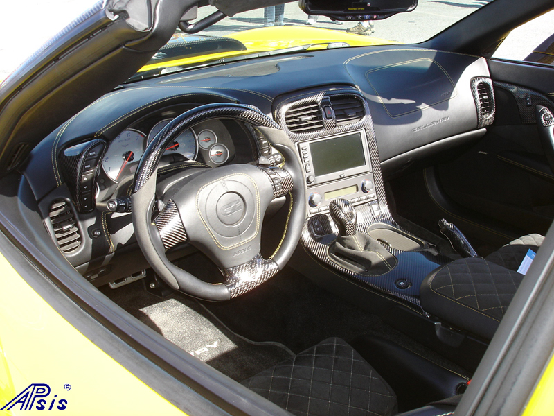 C6 Whole Interior-CF+EB+AL w-VY stitching-harolds car-1