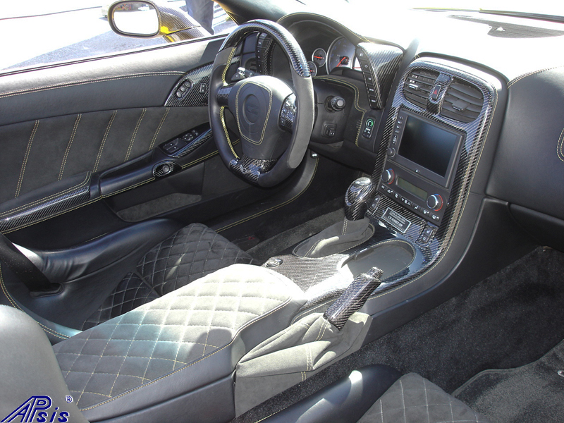 C6 Whole Interior-CF+EB+AL w-VY stitching-harolds car-3
