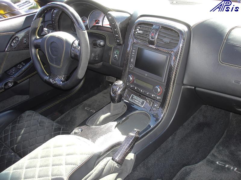 C6 Whole Interior-CF+EB+AL w-VY stitching-harolds car-4