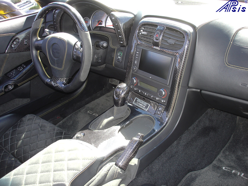 C6 Whole Interior-CF+EB+AL w-VY stitching-harolds car-4