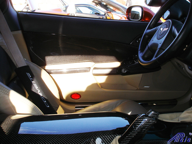 C6 Whole Interior-CF+EB+CA-modified corvette-8 close shot