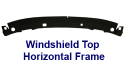 C6 Windshield Top Horizontal Frame