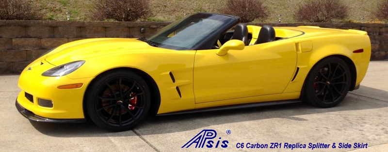 C6 ZR1 Replica CF Splitter+Side Skirt-installed on vy vert-3