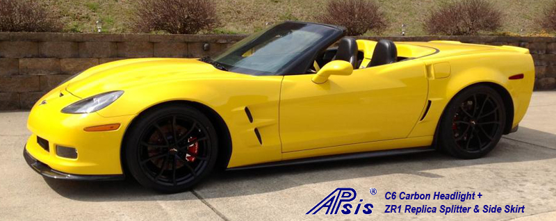 C6 ZR1 Replica CF Splitter+Side Skirt-installed on vy vert-8