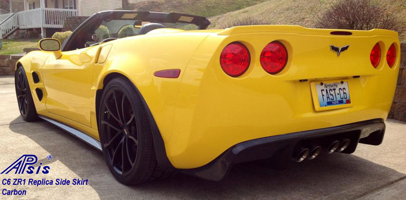 C6 ZR1 Replica CF Splitter+Side Skirt-installed on vy vert-9