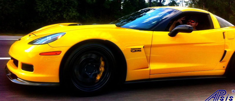 C6 ZR1 Replica CF Splitter+Side Skirt-installed on vy z06-spoiled996-1