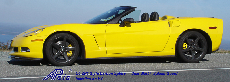 C6 ZR1 Style Carbon Spliiter+Side Skirt+Splash Guard-installed on VY-1