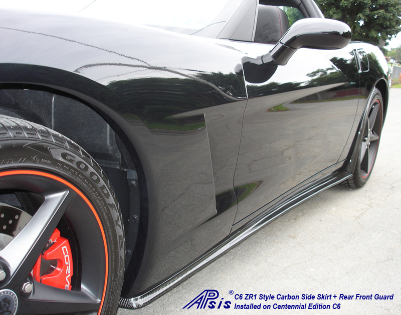 C6 ZR1 Style Side Skirt-CF-installed on centennial c6-1 w-flash