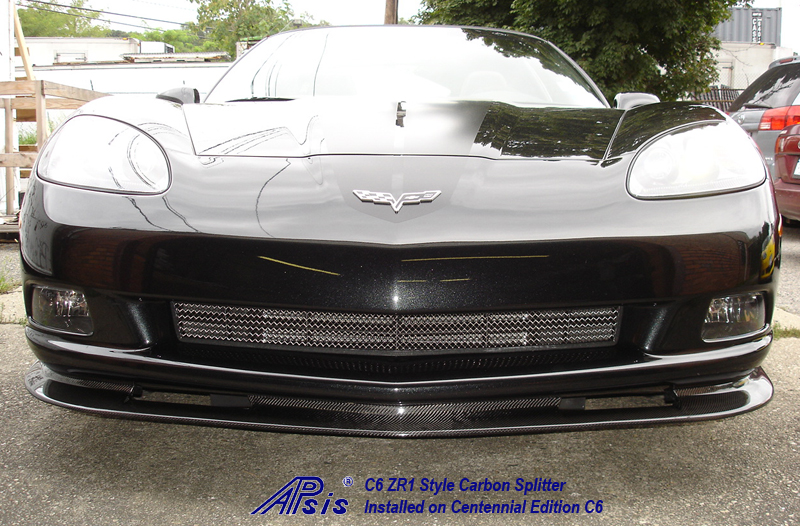 C6 ZR1 Style Splitter-CF-installed on centennial c6-2