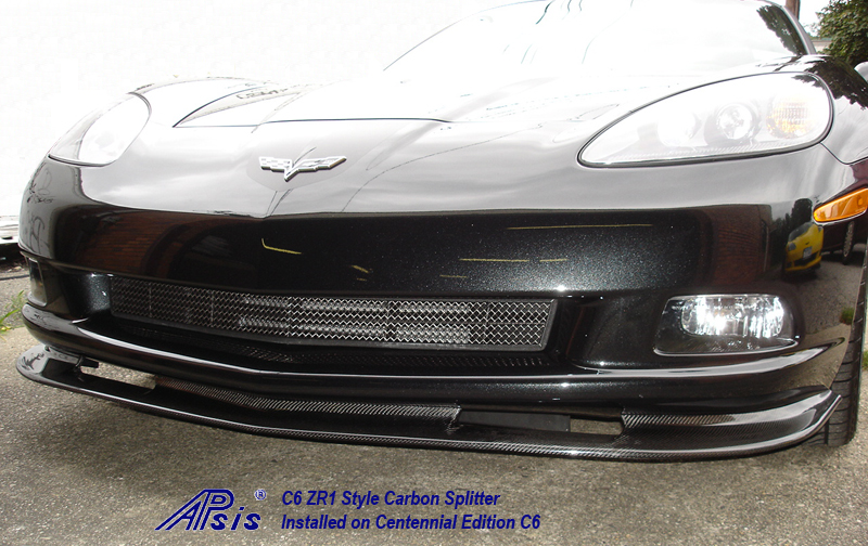 C6 ZR1 Style Splitter-CF-installed on centennial c6-3
