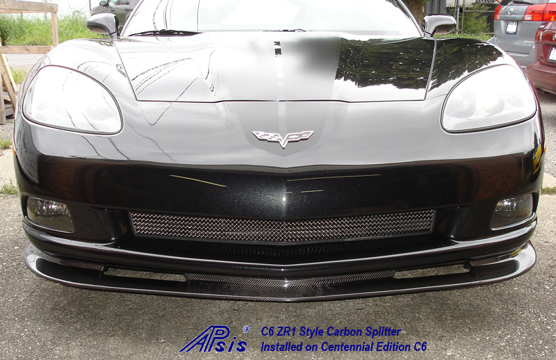 C6 ZR1 Style Splitter-CF-installed on centennial c6-4