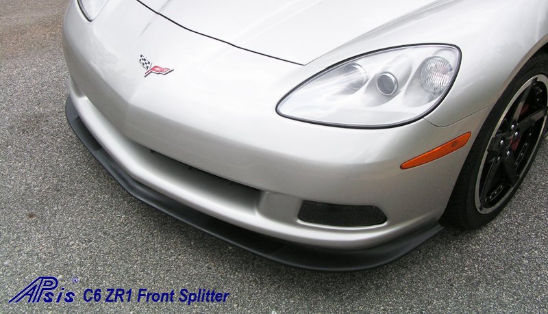 C6 ZR1 Style Splitter & Side Skirt installed on Silver Car - 4