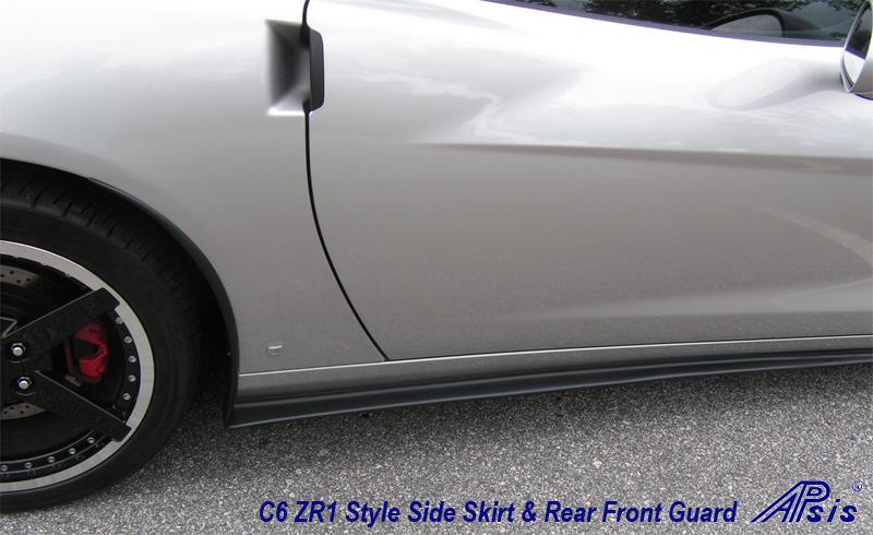 C6 ZR1 Style Splitter & Side Skirt installed on Silver Car - 6