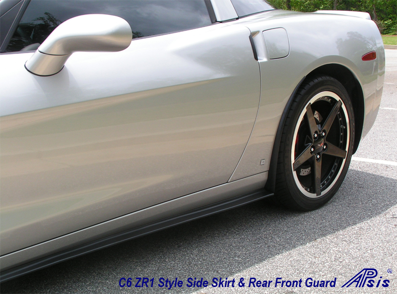 C6 ZR1 Style Splitter & Side Skirt installed on Silver Car - 7