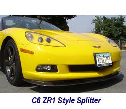 C6 ZR1 Style Splitter-carbon 250
