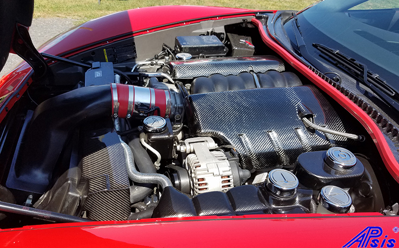 C6 Carbon Parts – Under The Hood – Whole View Under the Hood : apsisusa