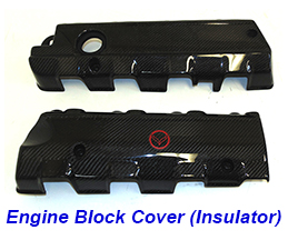 C7 Engine Block Cover (Insulator)-CF-pair-1
