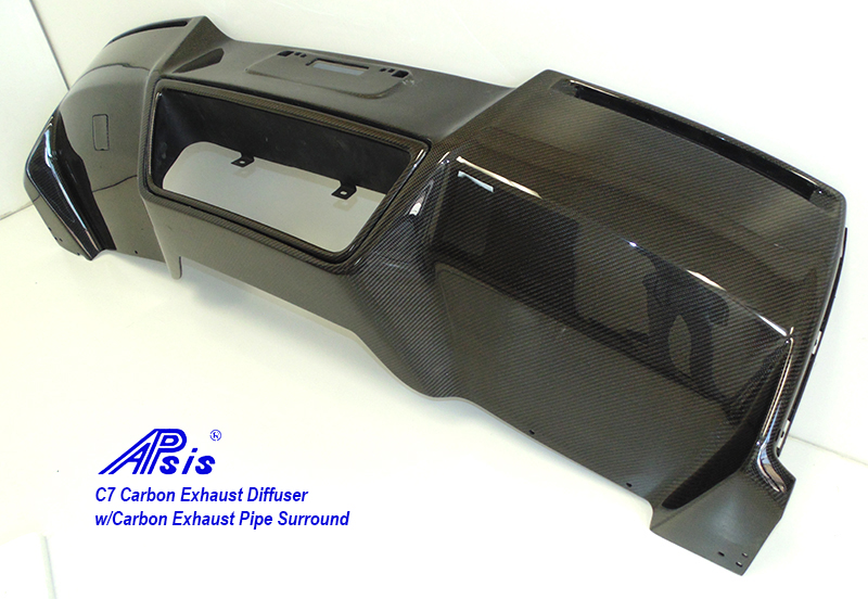 C7 Exhaust Diffuser w-carbon exhaust surround pc-3