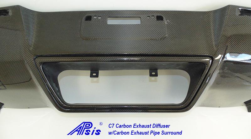 C7 Exhaust Diffuser w-carbon exhaust surround pc-clost shot-2