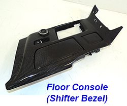C7 Floor Console(Shifter Bezel)-CF-individual-6 w-cup holder 250