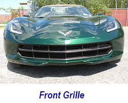 C7 Front Grille-CF-installed on jerseys car-1 250