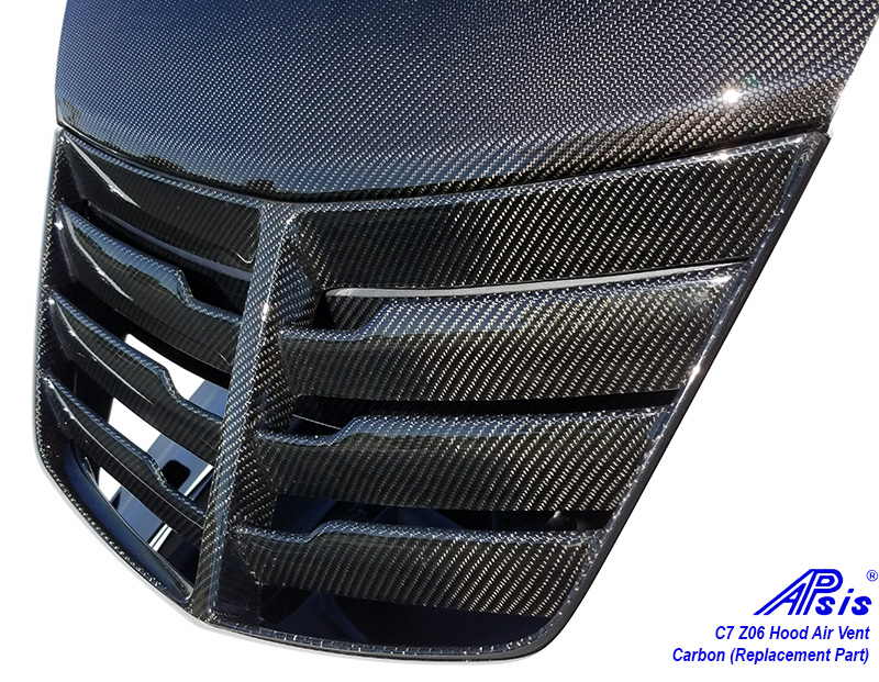 Hood Air Lines : C carbon z hood air vent installed in high gloss