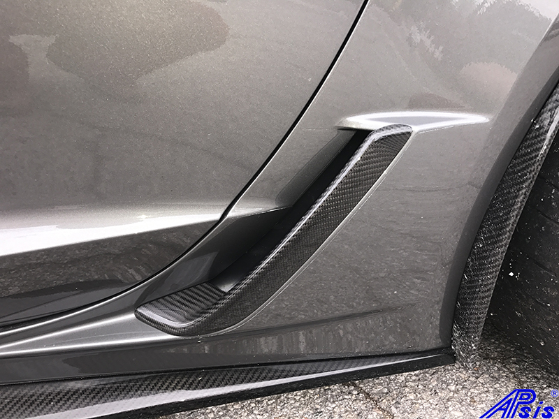 C7 Carbon Z06 Rear Air Vent Lower (Rear Brake Scoop