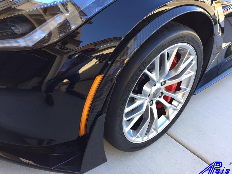 C7 Carbon Z06 Spats Installed In High Gloss Apsisusa