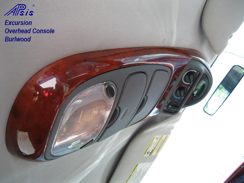 Excursion Overhead Console-burlwood-installed-1