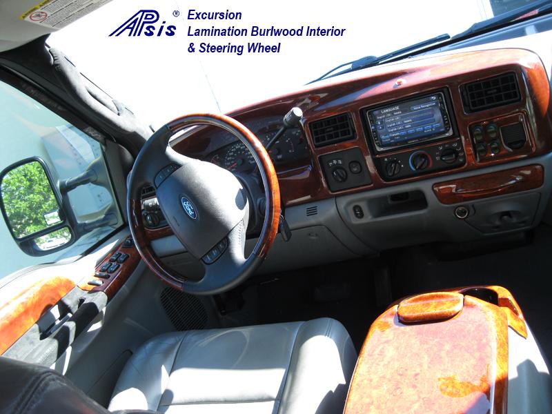 Excursion Whole Interior-burlwood-installed-1