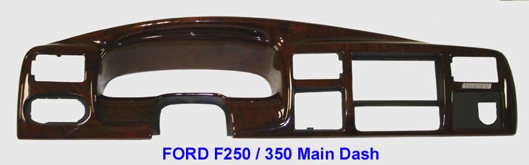 F-250 99-04 Main Dash-King Ranch burlwood - 768 - w-description