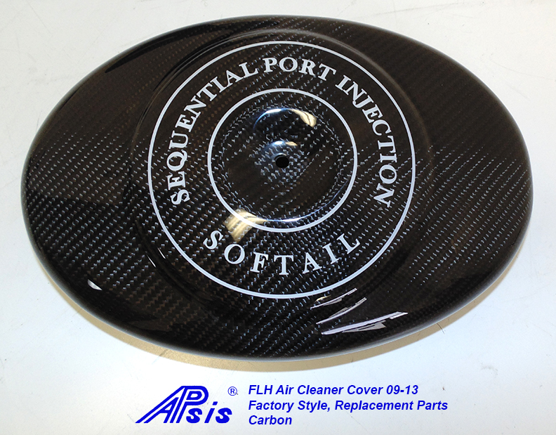FLH Air Cleaner Cover-factory style w-lettering-soft tail-2