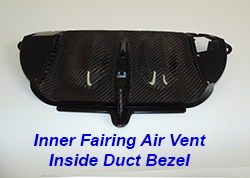 FLH Inner Fairing Air Vent Inside Duct Bezel-1 250