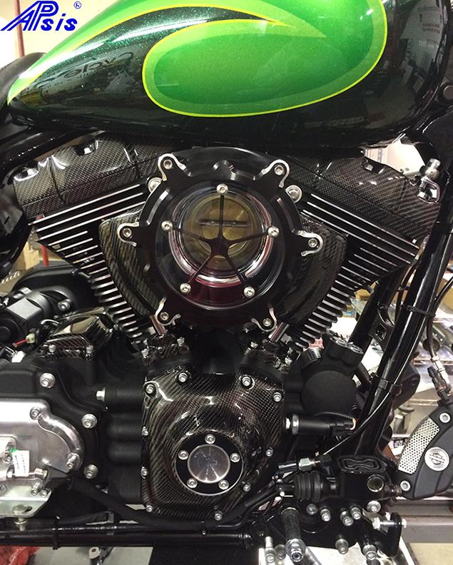 FLH Motor-installed on chris bike-1 800