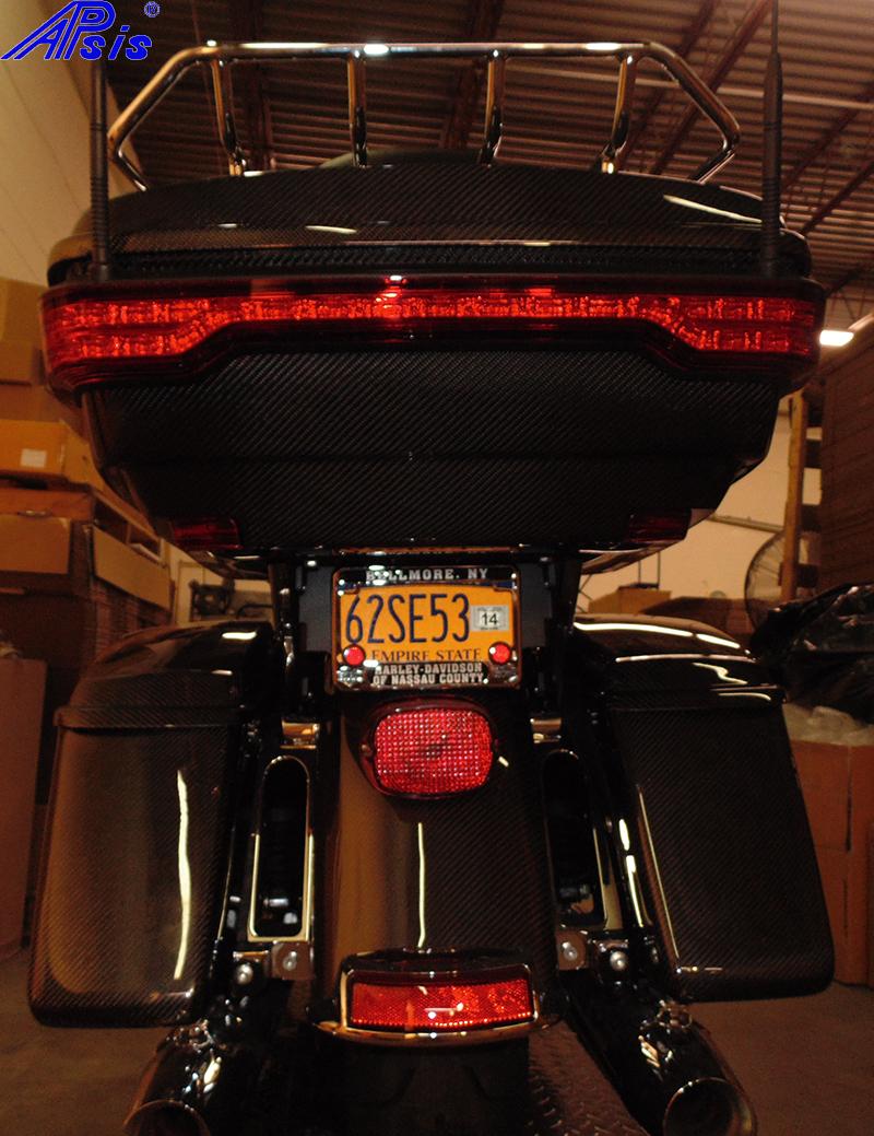 FLH Rear Fender + Tour Pak-installed-taken at warehouse-1