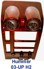 H2 Center Console-Lamination Burlwood 150