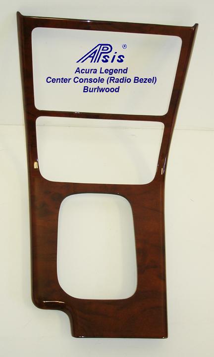 Legend Center Console (Radio Bezel)-burlwood-1a
