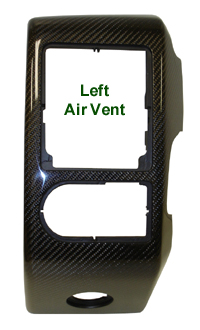 R.R. Lamination Black CF-Left Air Vent - 200