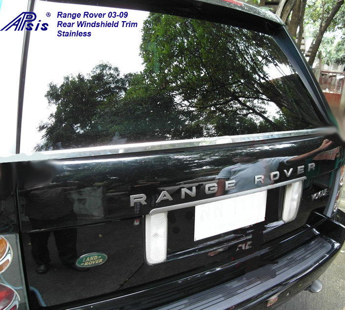 Range Rover 03-09-rear windshield stainless trim-installed-1