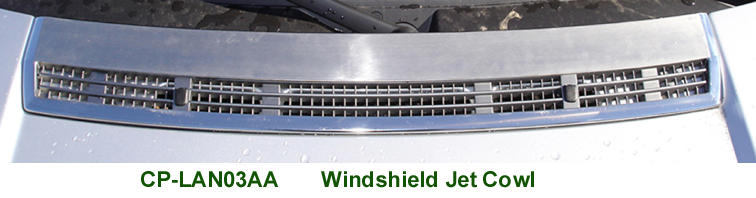 Range Rover Chrome Windshield Jet Cowl- web 72
