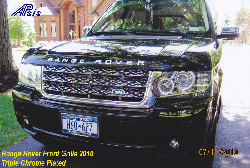 Range Rover Front Grille 2010 - chrome plated-installed