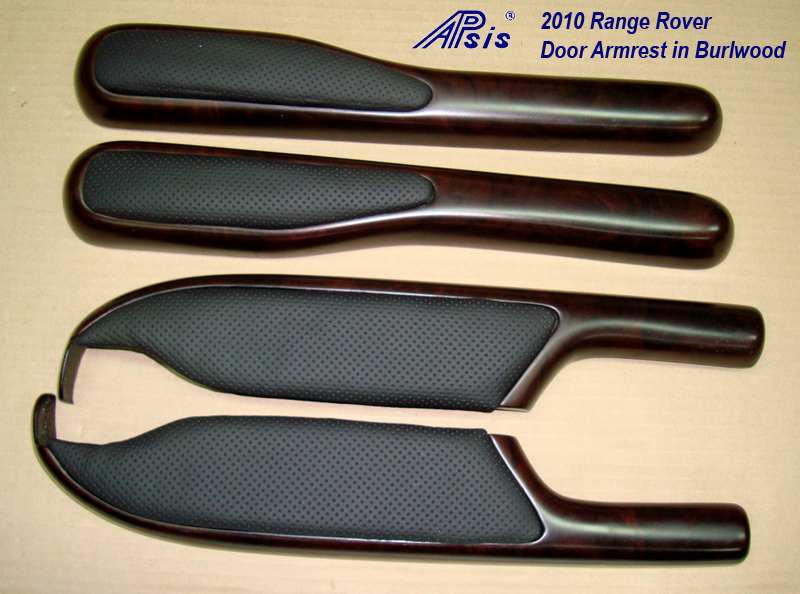 Range Rover L322 Door Armrest-burlwood+perforated leather-1