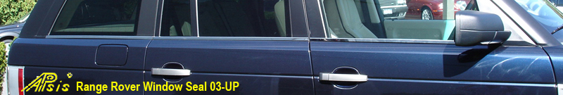 Range Rover-Window Seal-stainless-installed-front side view-800