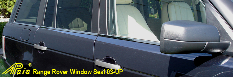 Range rover-Window Seal-stainless-installed-front view-800