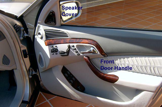 S500 W220 FrontDoorHandle & SpeakerCover 92-99
