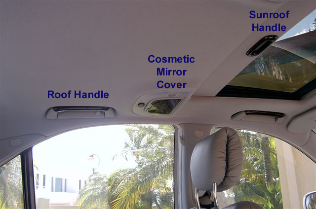 S500 W220 RoofHandle,SunroofHandleRearLightCover 00-06